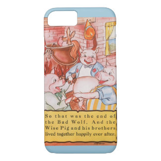 Vintage Fairy Tale Three Little Pigs and the Wolf iPhone 7 Case