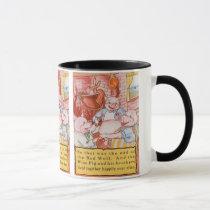 Vintage Fairy Tale Three Little Pigs and the Wolf Mug