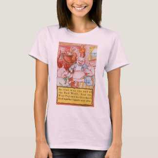 Vintage Fairy Tale Three Little Pigs and the Wolf T-Shirt