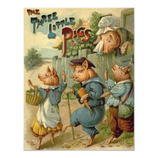 Vintage Fairy Tale, Three Little Pigs Invites
