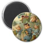 Vintage Fairy Tale, Three Little Pigs Magnets