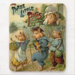 Vintage Fairy Tale, Three Little Pigs Mousepad
