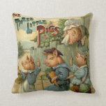 Vintage Fairy Tale, Three Little Pigs Pillows
