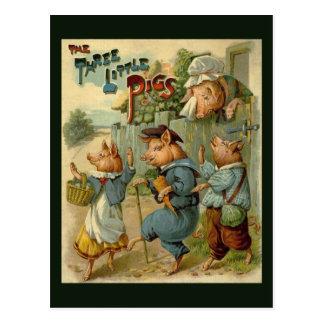 Vintage Fairy Tale, Three Little Pigs Post Cards