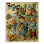 Vintage Fairy Tale, Three Little Pigs Poster