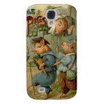 Vintage Fairy Tale, Three Little Pigs Samsung Galaxy S4 Case