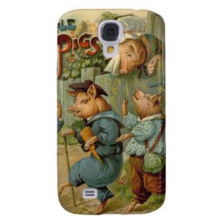Vintage Fairy Tale, Three Little Pigs Samsung S4 Case