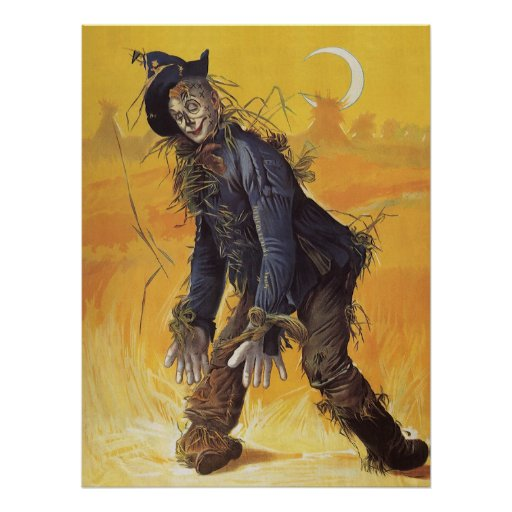 Vintage Fairy Tale, Wizard of Oz Scarecrow Poster