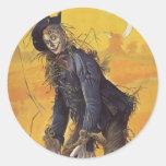Vintage Fairy Tale, Wizard of Oz Scarecrow Sticker
