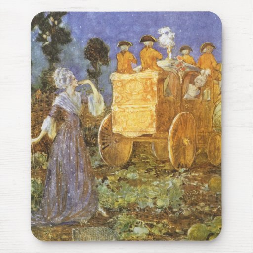 Vintage Fairy Tales Cinderella and Fairy Godmother Mouse Pad
