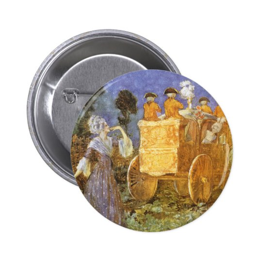Vintage Fairy Tales Cinderella and Fairy Godmother Pinback Button