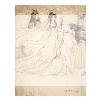 """Vintage Fairy Tales, Cinderella by Arthur Rackham 8.5"""" X 11"""" Flyer"""