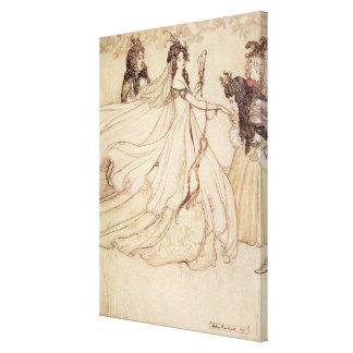 Vintage Fairy Tales, Cinderella by Arthur Rackham Canvas Print