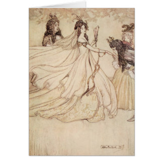 Vintage Fairy Tales, Cinderella by Arthur Rackham Card
