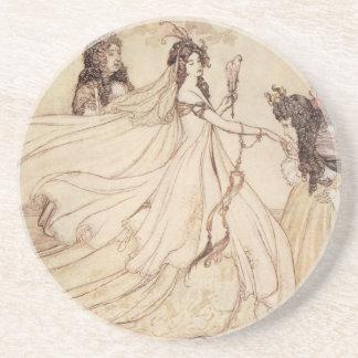 Vintage Fairy Tales, Cinderella by Arthur Rackham Coaster
