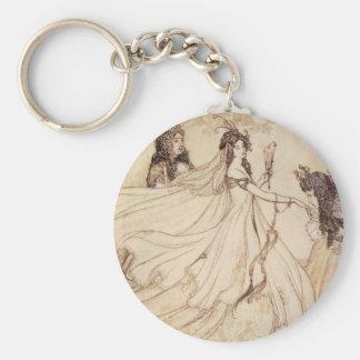 Vintage Fairy Tales, Cinderella by Arthur Rackham Keychain