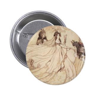 Vintage Fairy Tales, Cinderella by Arthur Rackham Pinback Button
