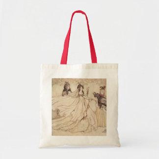 Vintage Fairy Tales, Cinderella by Arthur Rackham Tote Bag