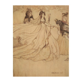 Vintage Fairy Tales, Cinderella by Arthur Rackham Wood Wall Art