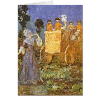 Vintage Fairy Tales, Cinderella, Fairy Godmother Greeting Card