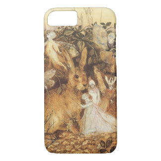 Vintage Fairy Tales, Rabbit Among the Fairies iPhone 8/7 Case
