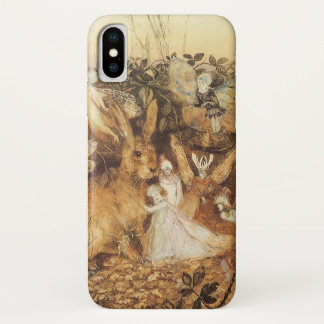Vintage Fairy Tales, Rabbit Among the Fairies iPhone X Case
