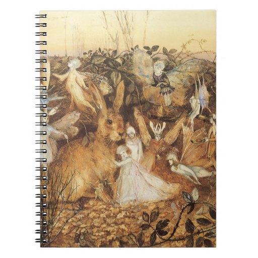 Vintage Fairy Tales, Rabbit Among the Fairies Notebook