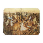 Vintage Fairy Tales, Rabbit Among the Fairies Magnets