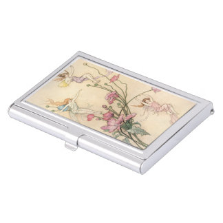 Vintage Fairy Tales, Three Spirits Filled With Joy Business Card Cases