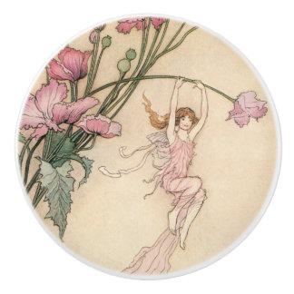 Vintage Fairy Tales, Three Spirits Filled With Joy Ceramic Knob