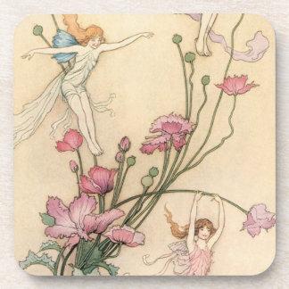 Vintage Fairy Tales, Three Spirits Filled With Joy Coaster