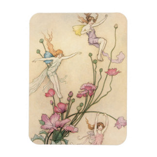 Vintage Fairy Tales, Three Spirits Filled With Joy Magnet