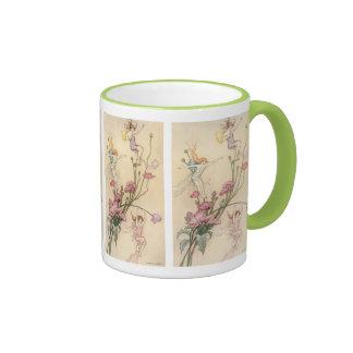Vintage Fairy Tales, Three Spirits Filled With Joy Ringer Mug