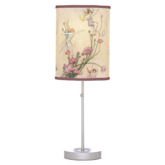 Vintage Fairy Tales, Three Spirits Filled With Joy Table Lamp