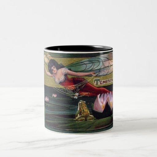 """Vintage Fairy """"Temptation"""" Coffee Mug"""