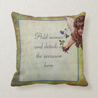 Vintage fairy themed personalized pillows