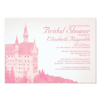 Vintage Fairytale Castle Bridal Shower Invitations