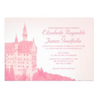 Vintage Fairytale Castle Wedding Invitations Custom Invite