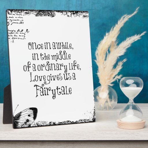 Vintage Fairytale Love Quote Display Plaques