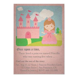 Vintage Fairytale Princess, Girl Birthday Party Card