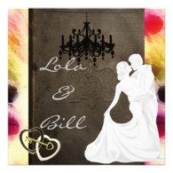 Vintage Fairytale Wedding Invitation