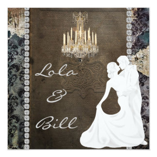 Vintage Fairytale Wedding  Invitation AUTHENTIC