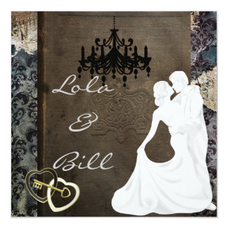 Vintage Fairytale Wedding  Invitation AUTHENTIC AN
