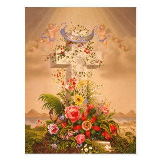 Vintage Faith Hope Charity Easter Cross 1875 Post Cards