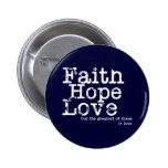 Vintage Faith Hope Love Button