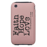 Vintage Faith Hope Love Case Tough iPhone 3 Cover