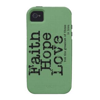 Vintage Faith Hope Love Case Vibe iPhone 4 Cover