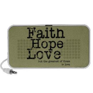 Vintage Faith Hope Love Doodle iPod Speaker