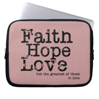 Vintage Faith Hope Love Laptop Case Laptop Computer Sleeve