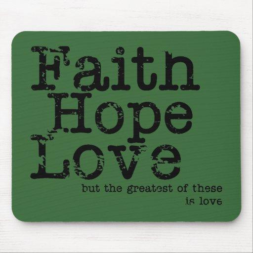 Vintage Faith Hope Love Mousepad